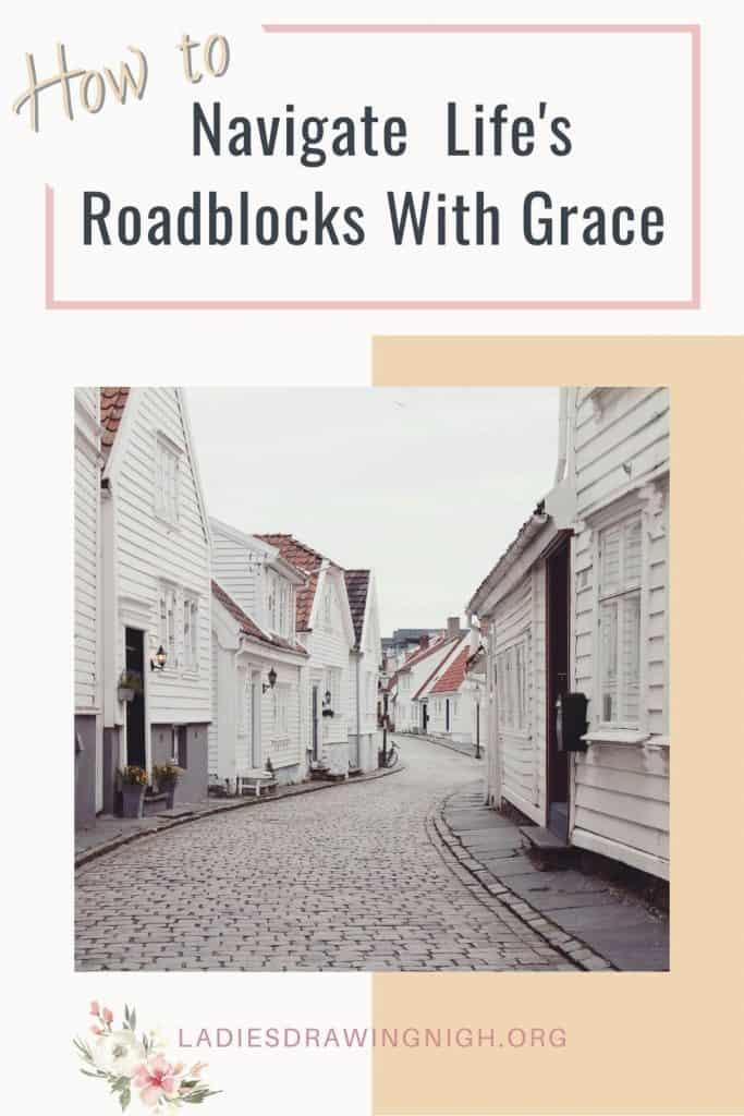 narrow cobblestone street clapboard houses