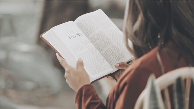 young woman reading Bible to seek wise counsel
