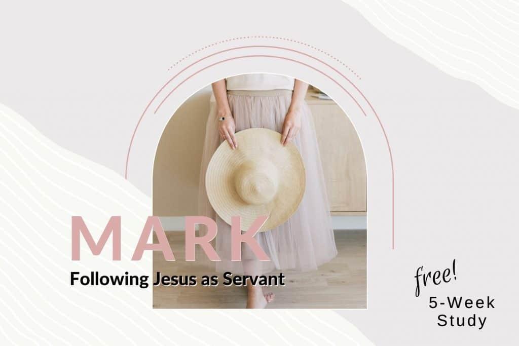 woman wearing skirt holding hat Mark Bible study