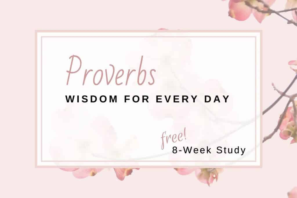 cherry blossoms branch Proverbs Bible study