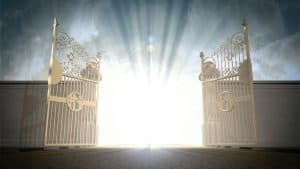 heaven's gate opened wide illustrating Bible verses about heaven